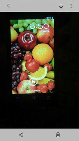 Сенсорный телефон с 2сим+карта памяти.