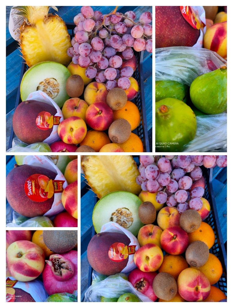 Cabaz frutas da época
