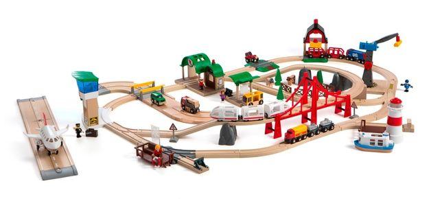 Brio (Брио) 33766 Деревянная железная дорога (люксовый набор)