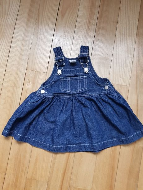 Śliczna sukienka ogrodniczka jeans