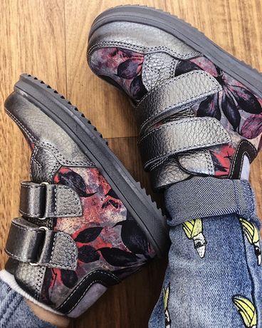 Ботинки демисезонные для девочки кожаные 21 р. 13 см. Miracle me