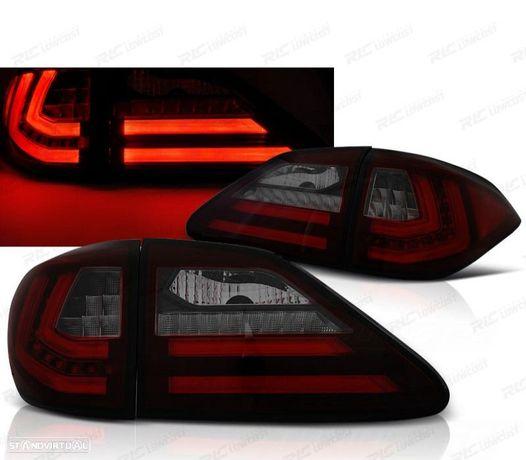 CONJUNTO DE FAROLINSLEXUS RX III 350 09-12 LED / BAR LEDS COM INDICADORES DINÂMICOSVERMELHOS /