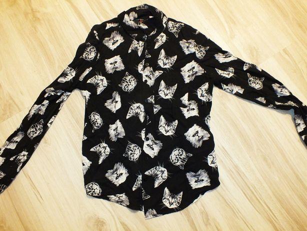 FB SiSter koszula w koty czarna rozm S