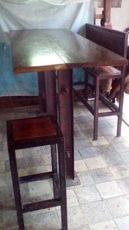 Барный высокий стол в стиле лофт для беседки, веранды, улицы