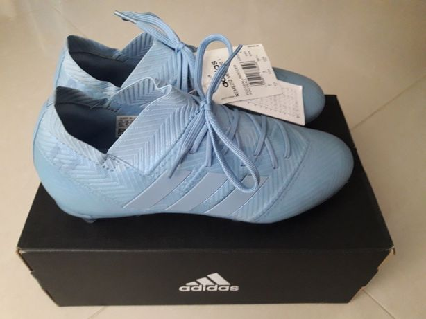 Nowe buty/ korki adidas Nemezis Messi FG J błekitne roz.18.1 - 36 2/3