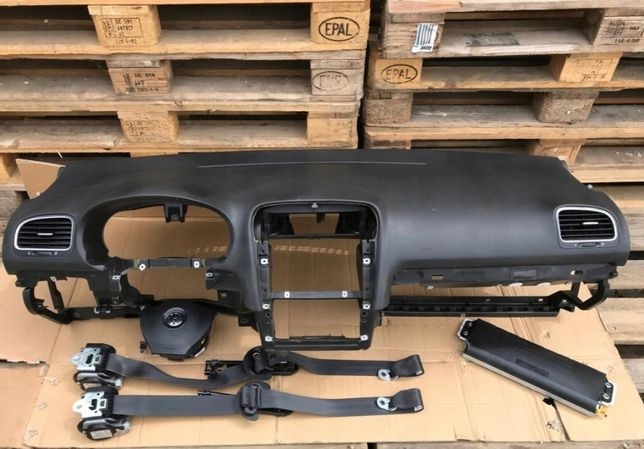 vw golf 6 tablier painel do bordo airbags cintos