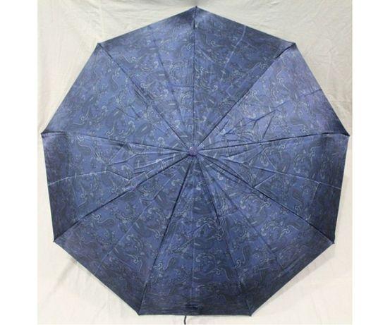 Женский зонт полуавтомат 9 спиц антиветер атлас сатин складной зонт