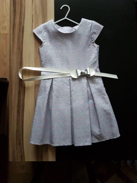 Elegancka sukienka dziewczęca. Rozmiar 128. Imprezy okolicznościowe
