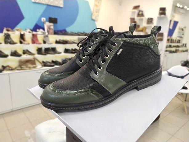 Ботинки крокодил на шерсти 40,41,42
