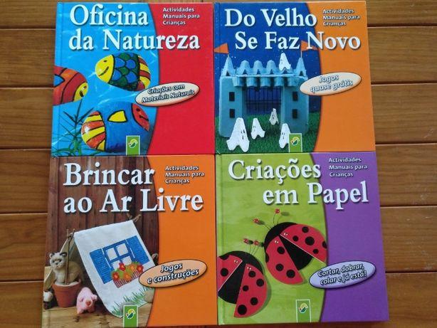 Livros Com Ideias de Trabalhos Manuais e Reciclagem e Jogos