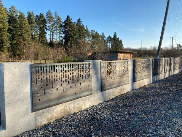 Ogrodzenie betonowe nowoczesne formy szalunkowe beton architektoniczny