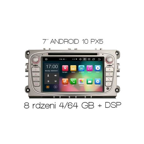 Radio 2din nawigacja FORD Connect Focus S-Max ANDROID DSP CARPLAY 8109