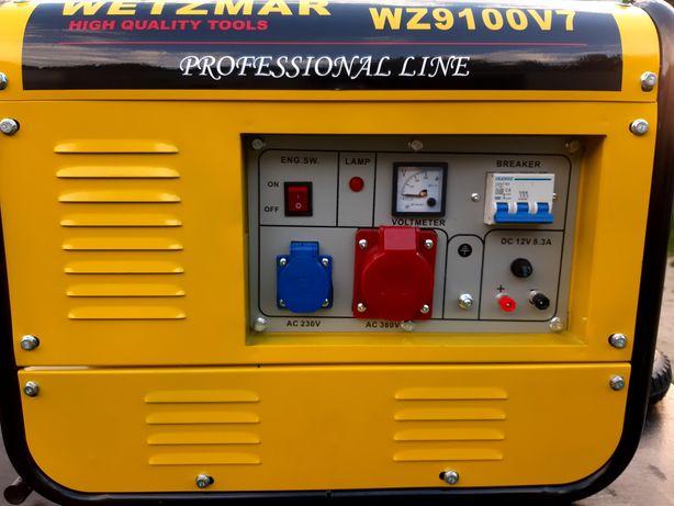 Agregat prądotwórczy Wetzmar WZ9100V7 Professional Line