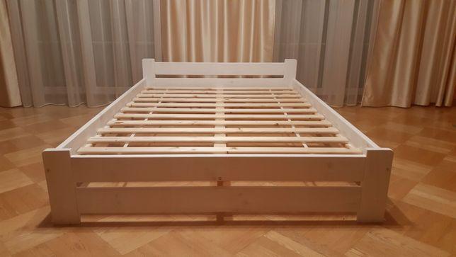 Łóżko do sypialni drewniane sosnowe lakierowane stelaż 7 kolorów