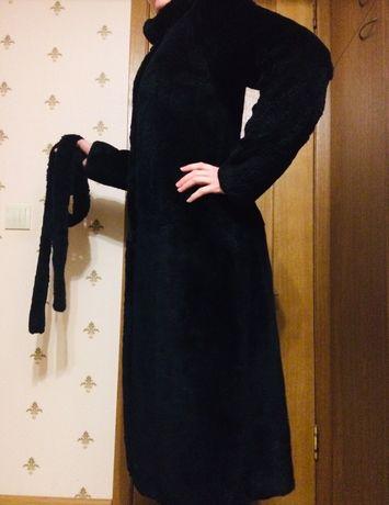 Шуба из бобра чёрная