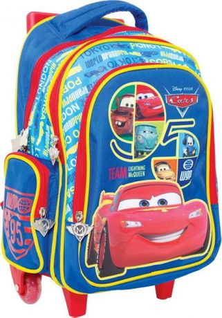 Рюкзак на колесах Тачки Cars 1 Вересня для школы и путешествий в идеал