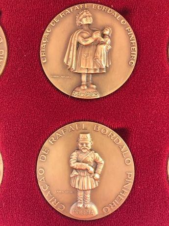 Bordalo Pinheiro - Medalhas - Conjunto de 6