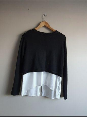 Sweter z koszula Sinsay