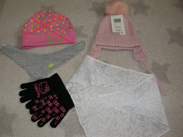 Czapka 5-10-15, rękawiczki, apaszka Pinokio dla 2-3 latki