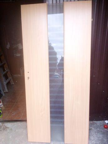 Drzwi lewe z szybą 90