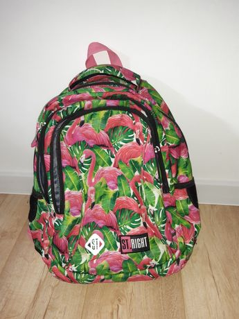 Plecak szkolny St Right 3 komorowy flamingi