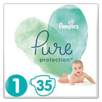 PAMPERS Pure Protection Pieluchy rozmiar 1 (2-5 kg) 35 szt FV zakupu