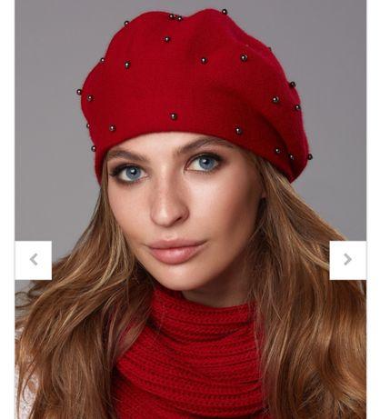Комплект шапка шарф митенки