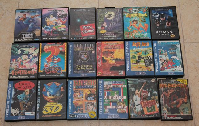 23 Jogos Mega Drive SEGA UMK3, Sonic, Gunstar Heroes, Disney...