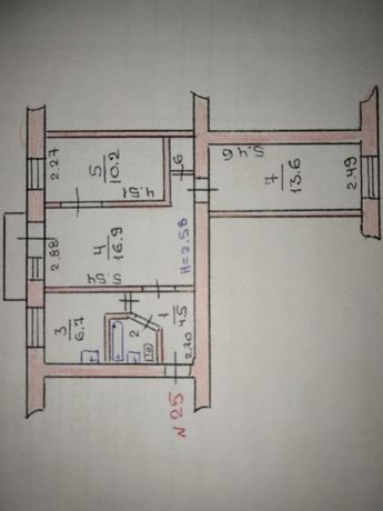 Продам трёхкомнатную квартиру в городе Доброполье