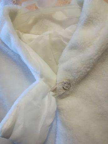 Накидка-пелерина для свадебного платья искусственный мех