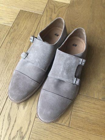 H&M premium meskie pantofle Monki 42 NOWE