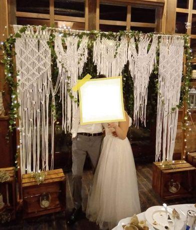 Ścianka MAKRAMA - idealna na wesele , sesje zdjęciowe