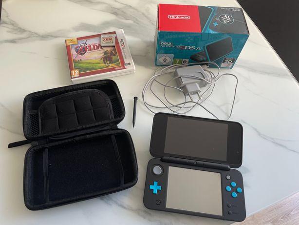 New Nintendo 2DS XL świetny stan + etui + ładowarka + karta4GB + Zelda
