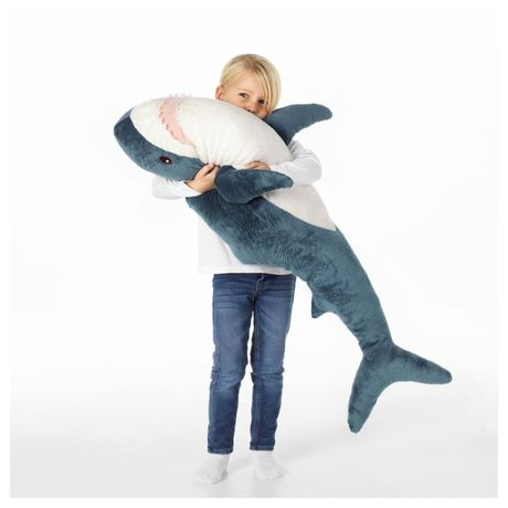 Акула из IKEA 100 см. Оригинал 100%. Мягкая игрушка подушка Икеа.