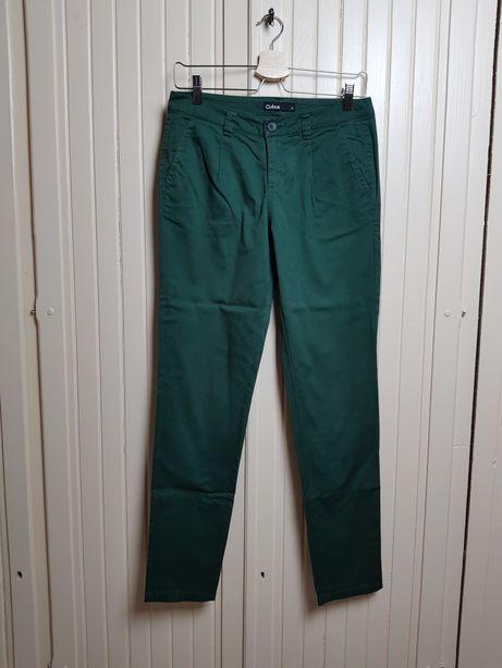 Spodnie zielone chinosy Cubus 34 S
