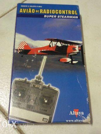 Avião radiocontrol Stearman:cassette VHS