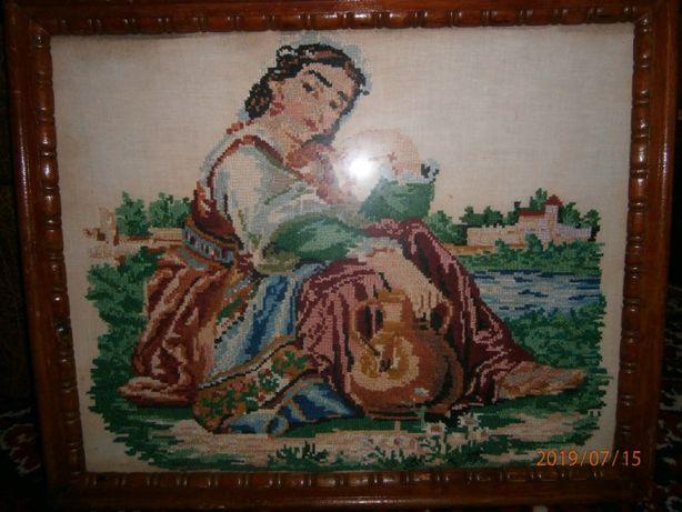 Старинная картина(вышивка крестом)