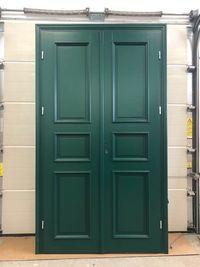 Drzwi drewniane Od Ręki DWUSKRZYDŁOWE Nietypowe zielone CAŁA POLSKA