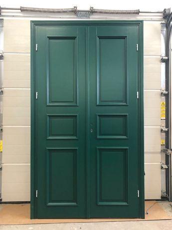 Drzwi retro zielone wewnętrzne, listwa ozdobna