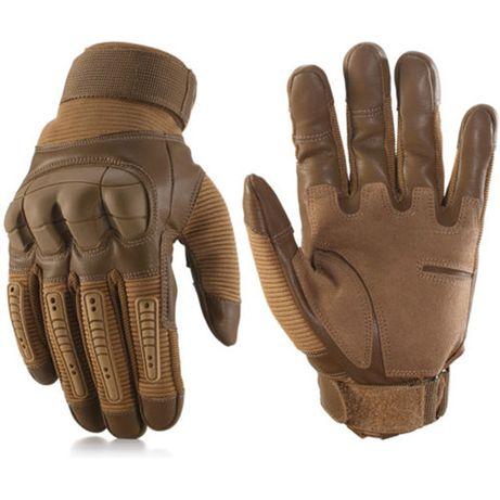 Luvas em pele com protecções motociclista ou militar