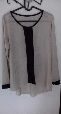 Bluzka z ozdobnym paskiem