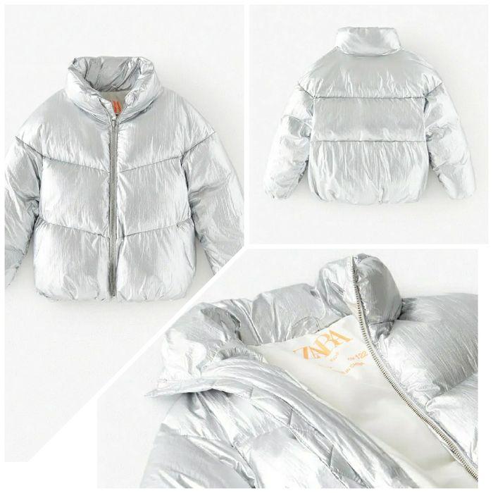 Куртка зимняя девичья Zara Вишневое - изображение 1