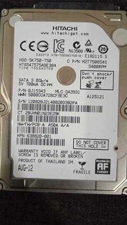 Жёсткий диск HDD Hitachi 750 gb для ноутбука