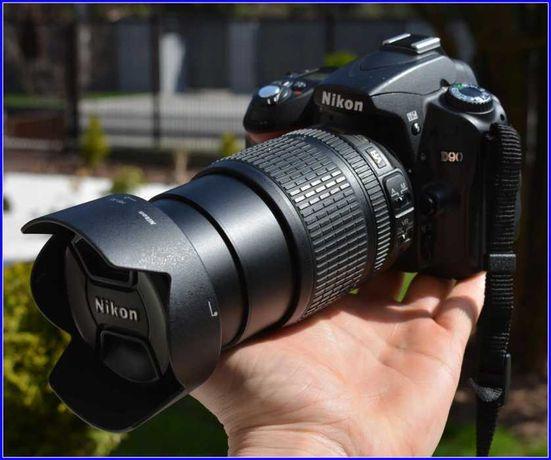 Фотоаппарат Nikon D90 + Nikkor 18-105 VR сумка в подарок, пробег 8176