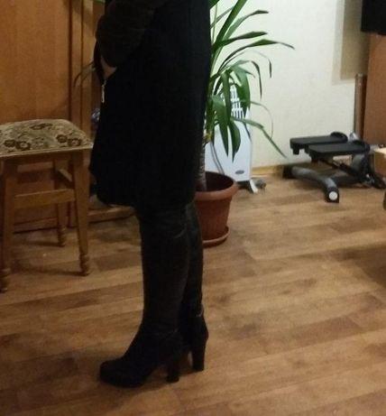 сапоги (чоботи) кожаные зимние женские