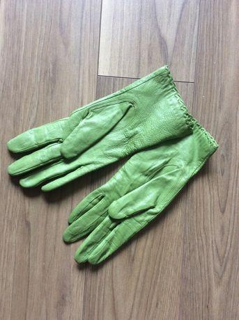 Skórzane rękawiczki rozmiar M