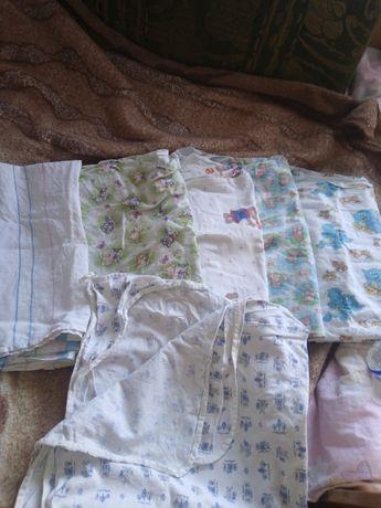 Набор Пеленки фланель байковые уголок полотенце хлопок