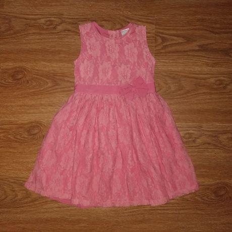 Нарядное пышное гипюровое платье
