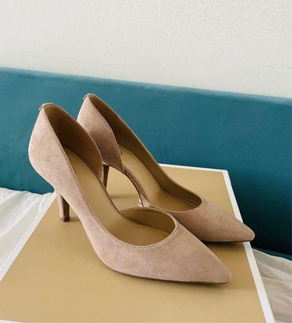 Красивейшие легкие открытые летние туфли замшевые Michael Kors