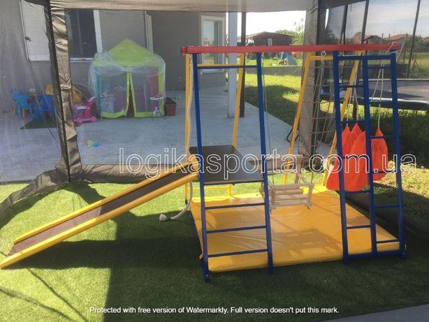 Горка, мат, игровая площадка, качели, детский спортивный комплекс